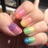 Rainbow (Loose) Glitter Gradient!
